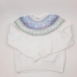 EDDIE BAUER Vintage Pastel Knit Sweater Size L